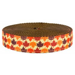 3/4 Inch Nature Walk on Brown Nylon Webbing