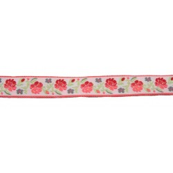 15/16 Inches Roses Gallore Woven Ribbon