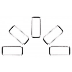 1 Inch X 3/8 Inch Lite Welded Rectangle Rings Closeout