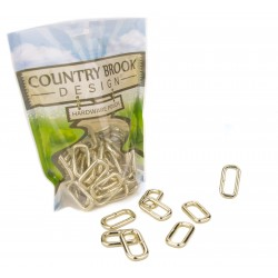 1 Inch Brass Plated Heavy Welded Rectangle Rings