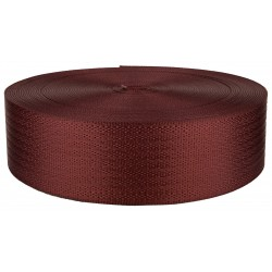 2 Inch Seat-Belt Brick Red Polyester Webbing Closeout