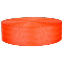 2 Inch Seat-Belt Hot Orange Polyester Webbing Closeout