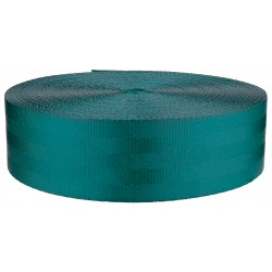 2 Inch Seat-Belt Teal Polyester Webbing Closeout