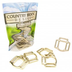 1 Inch Solid Brass 3-Sided Horse Halter Squares