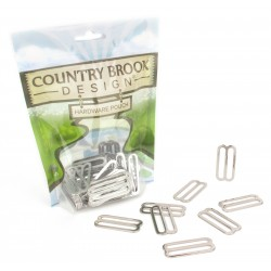 Country Brook Design® 1 1/2 Inch Metal Triglide Slides