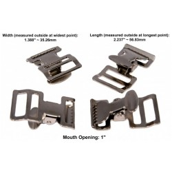 1 Inch Alligator Clip Spring Action Buckle