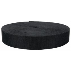 1 1/2 Inch Black Cotton Webbing Closeout