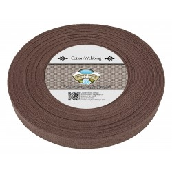 1 Inch Brown Heavy Cotton Webbing