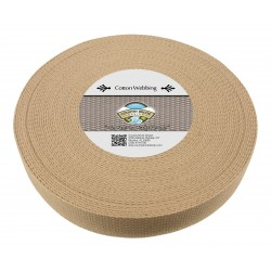 1 1/2 Inch Camel Heavy Cotton Webbing
