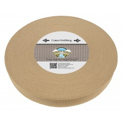 1 1/4 Inch Camel Heavy Cotton Webbing