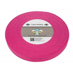 1 Inch Fuchsia Heavy Cotton Webbing