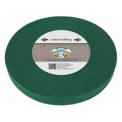 1 Inch Green Heavy Cotton Webbing