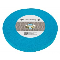 1 Inch Ice Blue Heavy Cotton Webbing