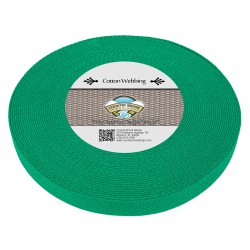 1 Inch Kelly Green Heavy Cotton Webbing