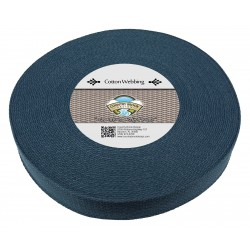 1 1/2 Inch Navy Blue Heavy Cotton Webbing