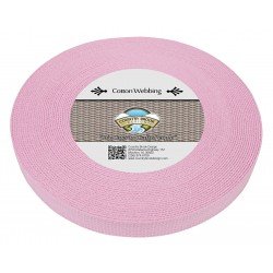 1 Inch Pink Heavy Cotton Webbing