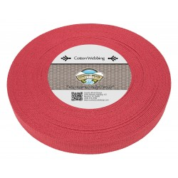 1 Inch Red Heavy Cotton Webbing