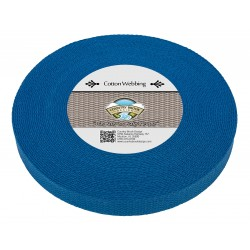 1 Inch Royal Blue Heavy Cotton Webbing