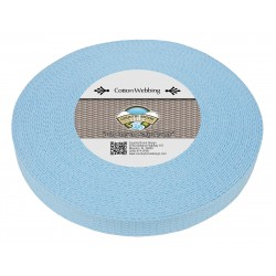 1 Inch Sky Blue Heavy Cotton Webbing