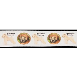 1 Inch Wheaten Terrier Cotton Ribbon, 1 Yard