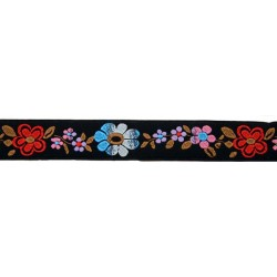 1 Inch Flower Shades Jacquard Braid Ribbon
