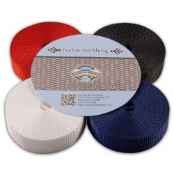 4 Yards of 4 Colors 1 Inch Heavy Nylon Webbing