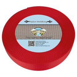 1 1/2 Inch Bright Red Heavy Nylon Webbing