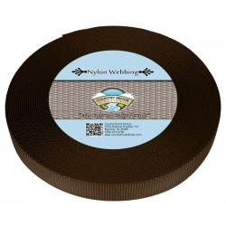 3/4 Inch Brown Heavy Nylon Webbing
