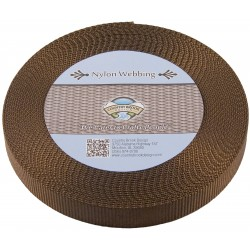 1 Inch Brown Heavy Nylon Webbing