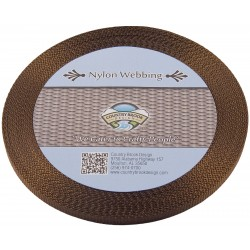 3/8 Inch Brown Heavy Nylon Webbing