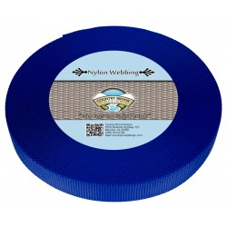 1 Inch Bright Royal Blue Heavy Nylon Webbing