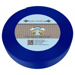 1 1/2 Inch Bright Royal Blue Heavy Nylon Webbing