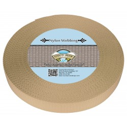 3/4 Inch Copper Gold Heavy Nylon Webbing