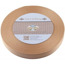 1 Inch Copper Gold Heavy Nylon Webbing