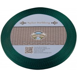 3/8 Inch Christmas Green Heavy Nylon Webbing