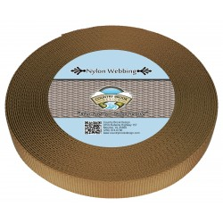 1 Inch Coyote Tan Heavy Nylon Webbing