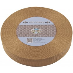 1 1/2 Inch Coyote Tan Heavy Nylon Webbing