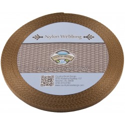 3/8 Inch Coyote Tan Heavy Nylon Webbing