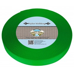 1 Inch Green Apple Heavy Nylon Webbing