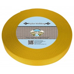 3/4 Inch Gold Heavy Nylon Webbing