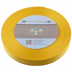 1 Inch Gold Heavy Nylon Webbing