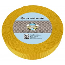 1 1/2 Inch Gold Heavy Nylon Webbing