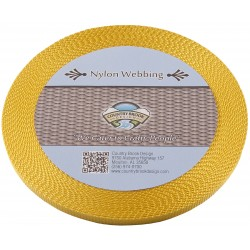 3/8 Inch Gold Heavy Nylon Webbing