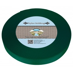 3/4 Inch Green Heavy Nylon Webbing