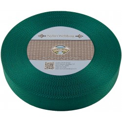 1 1/2 Inch Green Heavy Nylon Webbing