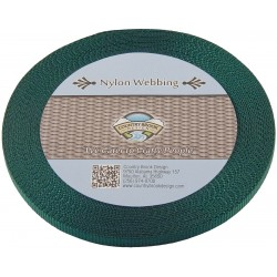 3/8 Inch Green Heavy Nylon Webbing