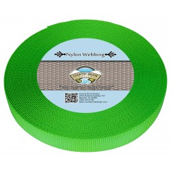 5/8 Inch Hot Lime Green Heavy Nylon Webbing