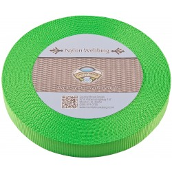 3/4 Inch Hot Lime Green Heavy Nylon Webbing