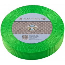 1 1/2 Inch Hot Lime Green Heavy Nylon Webbing