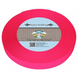 5/8 Inch Hot Pink Heavy Nylon Webbing
